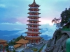 pagoda-at-genting-highlands-in-wonderful-evening-light-malaysia-landscape